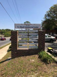 Custom brick tenant monument sign