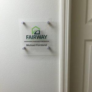 custom acrylic room id sign