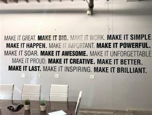 vinyl wall lettering